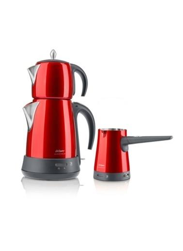 Arzum AR3008 Ehlikeyf Delux Çay Kahve Makinesi Kırmızı